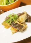 ジャンボ椎茸のみそにんにく味☆ごま油焼き