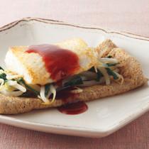 白身魚とナムルのガレット