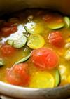 野菜たっぷりピリとろスープ