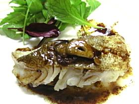 鱈のポワレ*バルサミコソース*