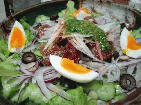 鮪の紫蘇ペーストサラダ
