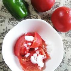 母の懐かしい夏の定番~トマトの砂糖がけ