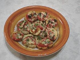 トマトとバジルのチーズポテト