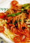 白菜キムチ入り*韓国風ナポリタン