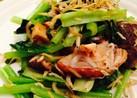 小松菜と椎茸のしらす炒め☆
