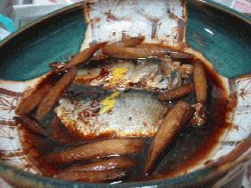 ニシンとゴボウの甘辛煮