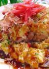 トロふわ♡お好み焼き風チーズオムライス
