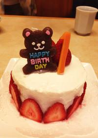 【卵なし】1歳お誕生日ケーキ☆Xマスにも