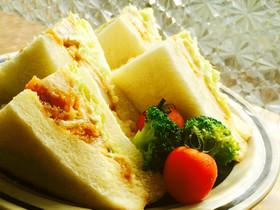 甘酢タレから揚げのサンドイッチ