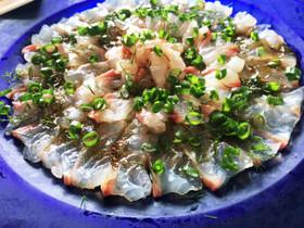 白ワインにピッタリ★鯛のカルパッチョ