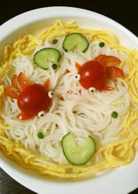 涼しげに☆彡金魚ちゃん素麺