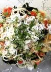 しらすと夏野菜の朝パスタ