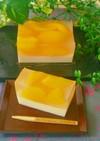 ひんやり♡桃とミルク二層のフルーツ羊羹