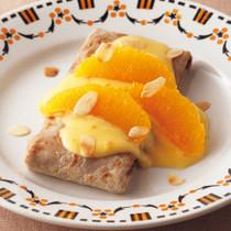 オレンジカスタードのガレット