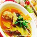 市販の肉団子で簡単♪美味しいトマトスープ