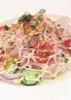 蒸し鶏と大根のカレー風味サラダ
