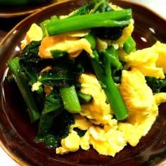 つるむらさきとフワフワ卵のあっさり塩炒め