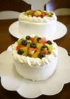 4号のフルーツデコレーションケーキ♪