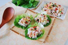 桜えびのサラダ風ちらし寿司