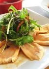 柚子胡椒ポン酢の鶏胸たたきカルパッチョ