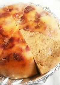 バナナとイチゴヨーグルトの炊飯器ケーキ