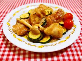 鶏肉とズッキーニの酢味噌炒め♪