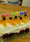夏生まれのお子様に!電車バースデーケーキ