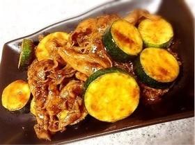 ズッキーニと豚肉の味噌炒め