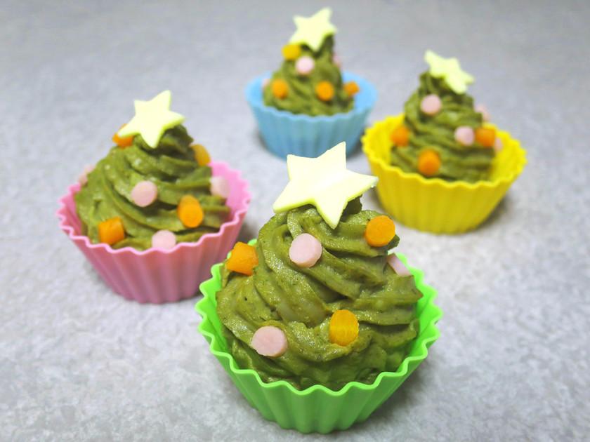 【弁当おかず】クリスマスツリー型ポテサラ