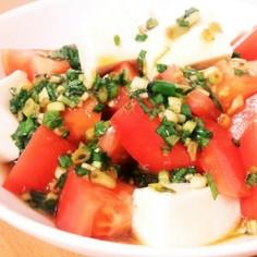 ひんやり♪トマトと豆腐のサラダ