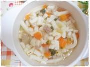 離乳食完了期 マグロと青梗菜のうどんの写真