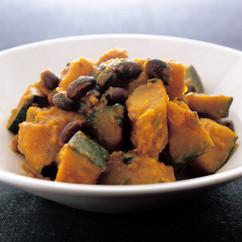 かぼちゃと黒豆のカレー