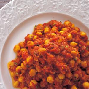 トマトとひよこ豆のカレー(グジュラティスタイル)