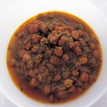 ひよこ豆の紅茶カレー(パンジャビコール)