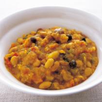 ミックス豆のマッシュドカレー