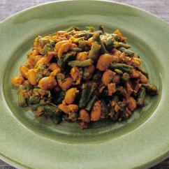 大豆とどじょういんげんのドライカレー