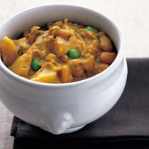 蕪(カブ)と大福豆のクリームカレー