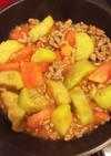 ★離乳食中期★豚肉と茄子とトマトの炒め物