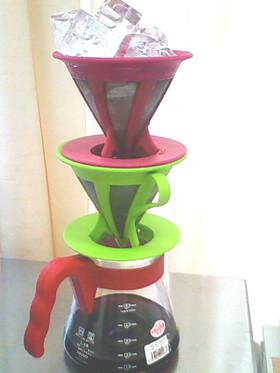 氷出しアイスコーヒー ドリッパー2つ使用