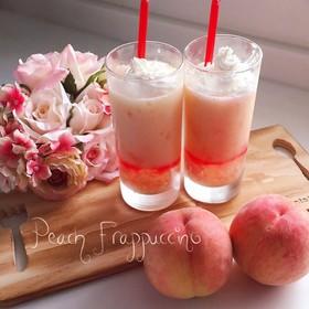 桃感たっぷり♡ピーチフラペチーノ