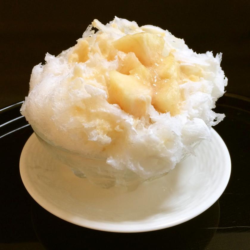 かき氷 練乳カルピス