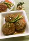 ジャンボ椎茸の肉詰め(ハンバーク)