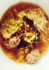 夏風邪に!しょうがたっぷり肉団子スープ