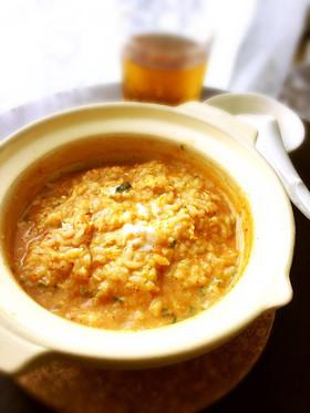 基本のレシピ♡とろとろ卵のキムチ雑炊