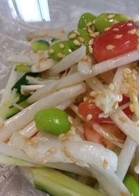 漬物と野菜の五目そう麺