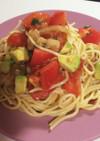 夏ランチ☆トマトとアボカドの冷麺パスタ