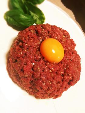 タルタルステーキ〜安い牛もも肉で〜