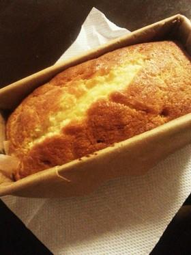 簡単プリンのパウンドケーキ