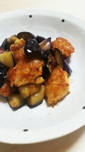 ☆ナスと鶏つくねの中華風甘酢和え☆