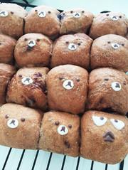 ココアチョコチップちぎりパンの写真